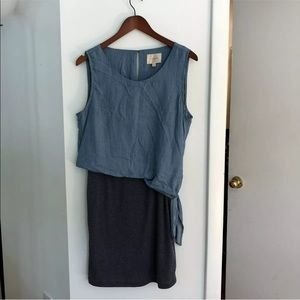 Skies are blue chambray side tie dress M